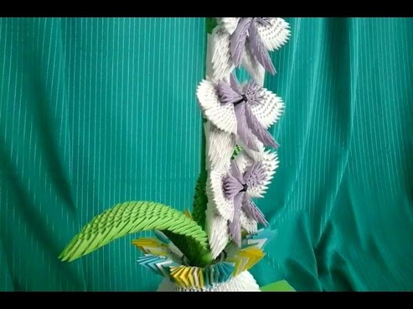 Модульное оригами, ветка орхидеи (описание)/ Modular origami, orchid branch (description) V36