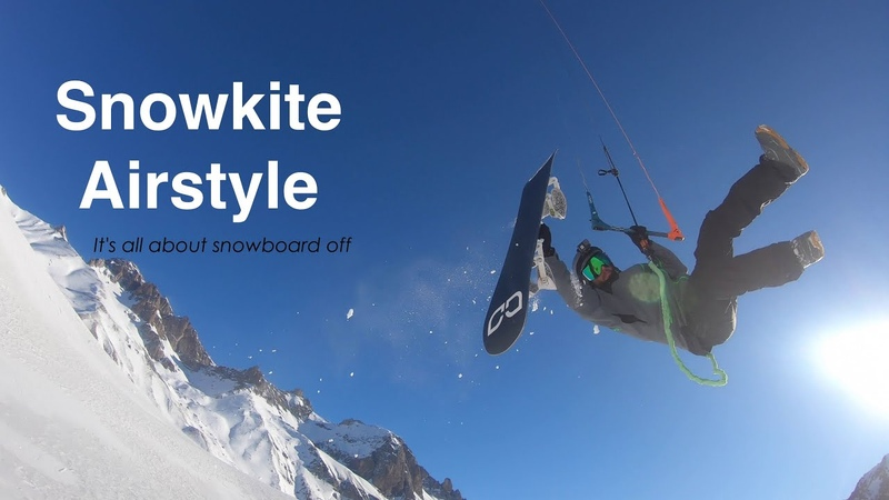 Snowkite Airstyle It's all about snowboard off