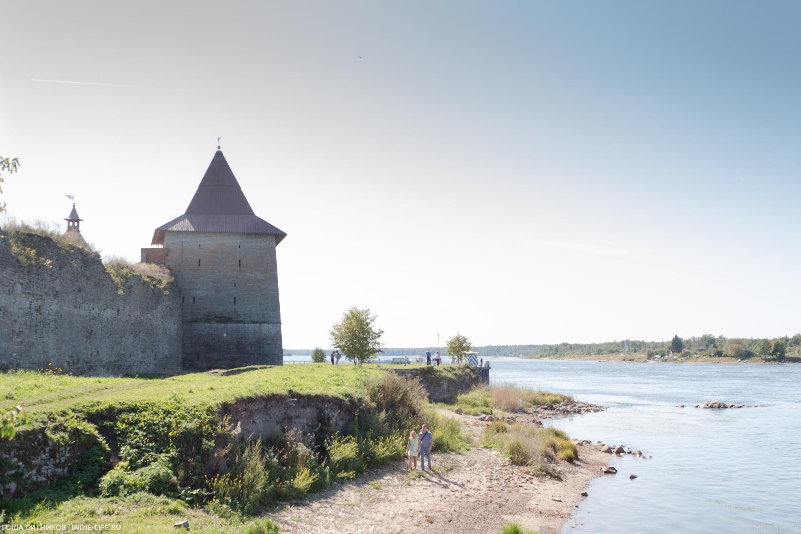 Пляж крепость Орешек