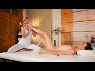Cristal caitlin, adel morel foot massage for sexy natural babe | lesbian massage oil brazzers porn порно лесбиянки
