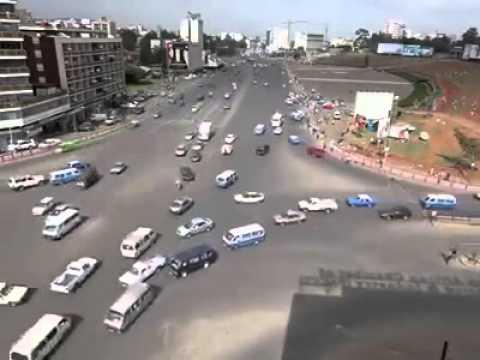 Эфиопия, перекресток без светофоров