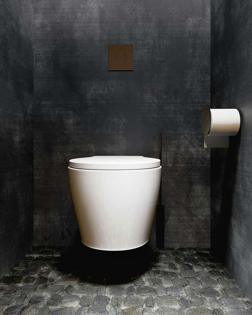 Design Black Bathroom by Catherine Solyanik