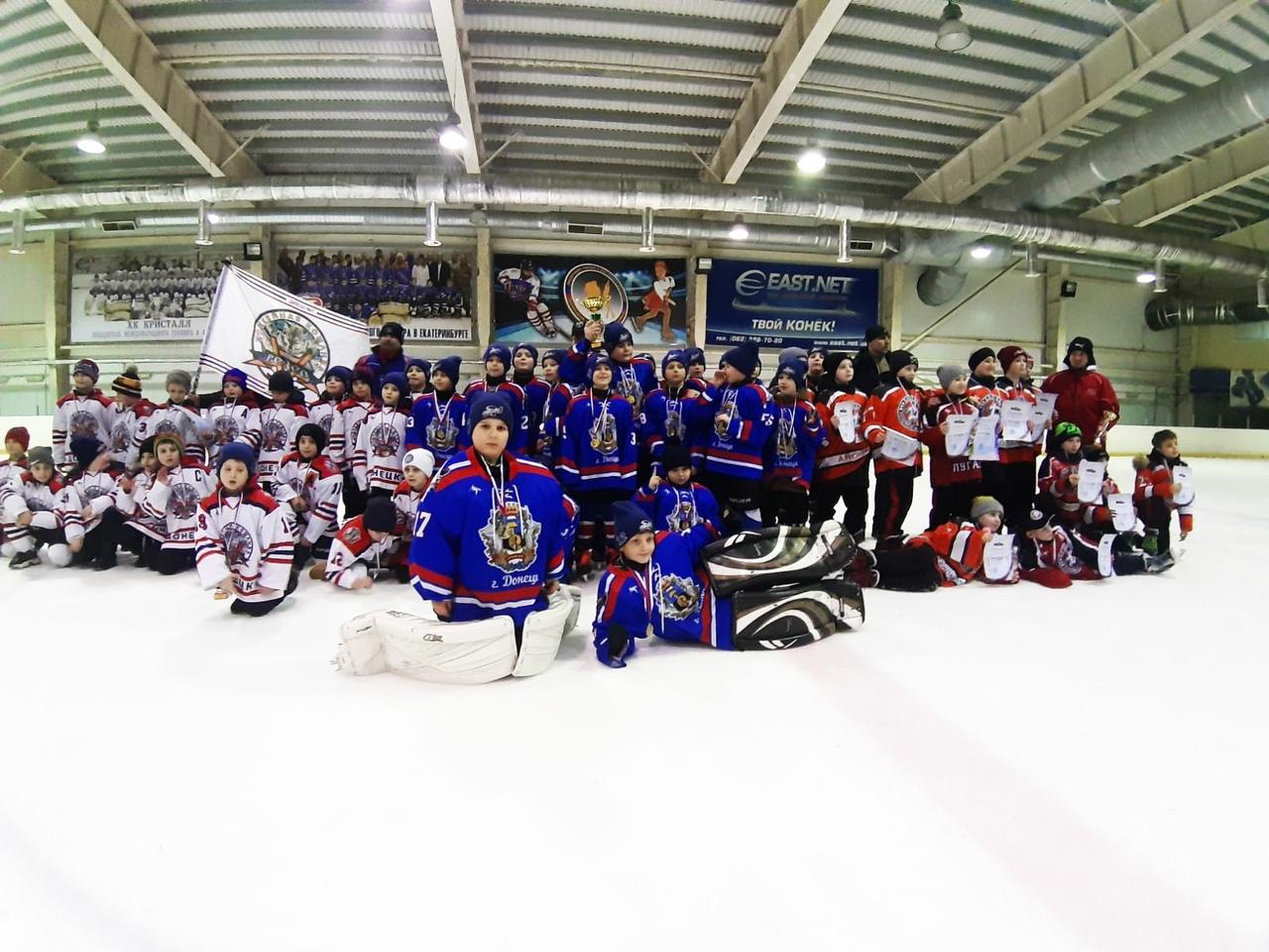 В Донецке прошёл детский городской турнир по хоккею с шайбой, посвящённый Дню защитника Отечества