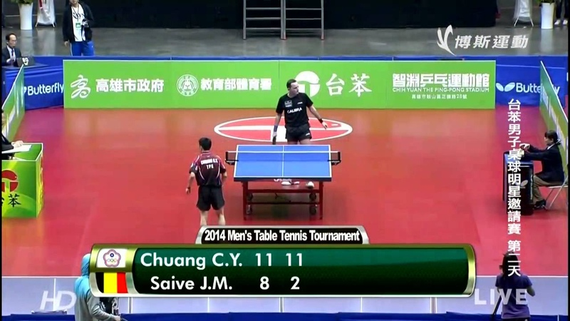 2014 Tai Ben Invitational Chuang Chih Yuan Vs Jean Michel Saive HD Full Match Chinese