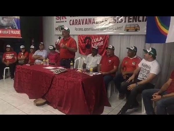 Caravana da Resistência em Águas Belas / PE, no Sindicato dos Trabalhadores Rurais