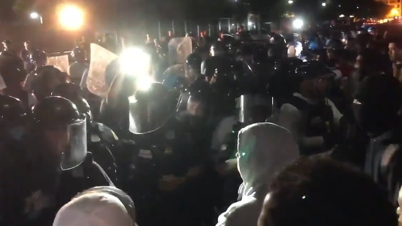 Violent clashes outside White House as hundreds voice anger at police killing   George Floyd protest