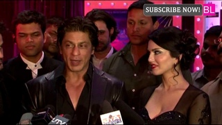 Shahrukh Khan & Sunny Leone togther at premiere of movie Jackpot