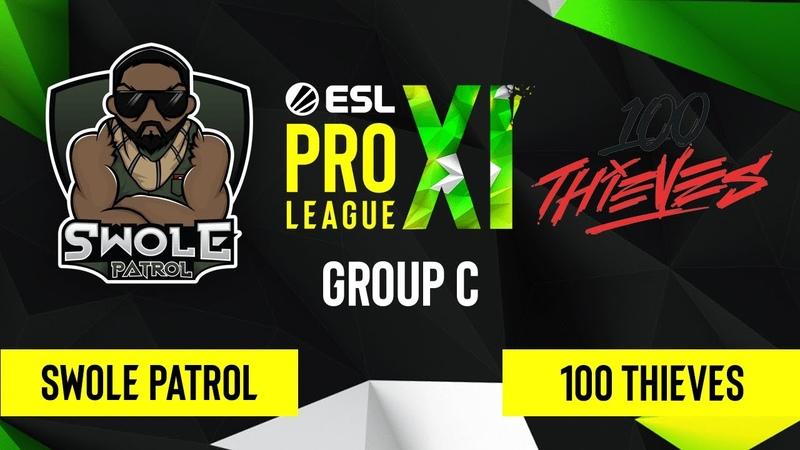 CS GO 100 Thieves vs Swole Patrol Vertigo Map 2 ESL Pro League Season 11 Group C