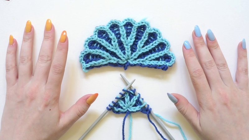 Brioche Knit Tips Cast on for a Brioche Stitch Shawl