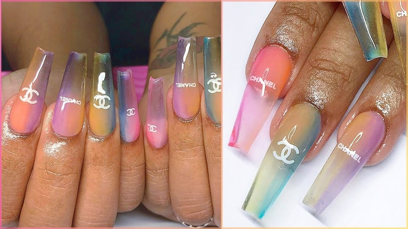 Acrylic Tips Tricks for Beginners Shiny Jelly Chanel Candy Glass Nails