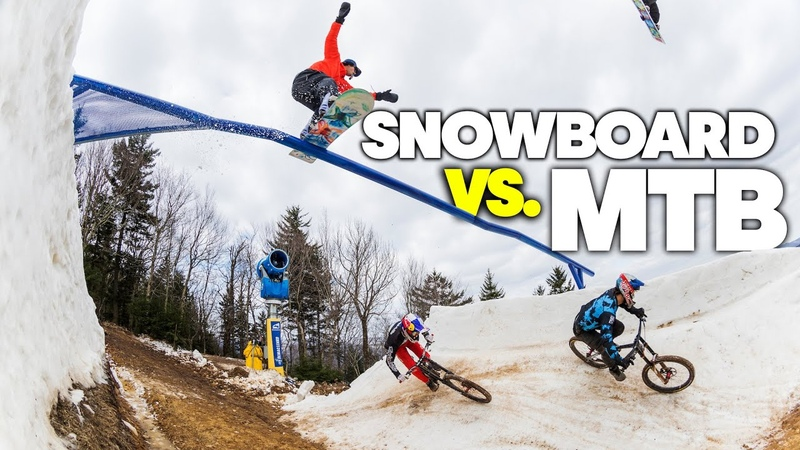 Mountain Bikers Vs Snowboarders Last Chair First Run 2021