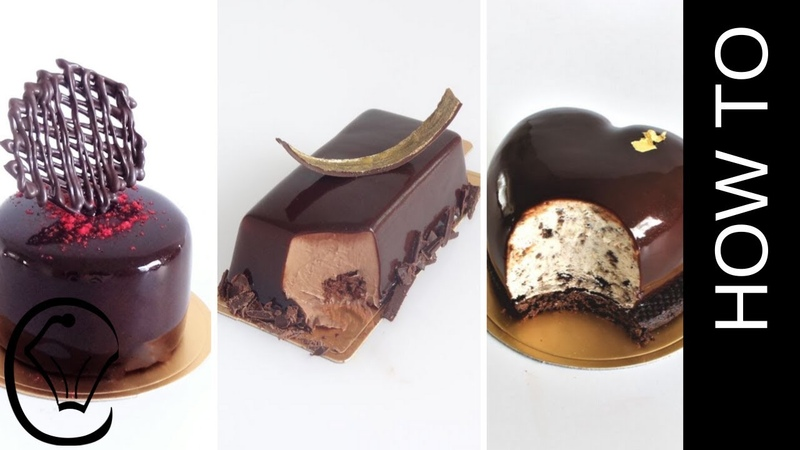 3 Easy Mirror Glaze Entremet Mousse Desserts Chocolate Glaze Compilation