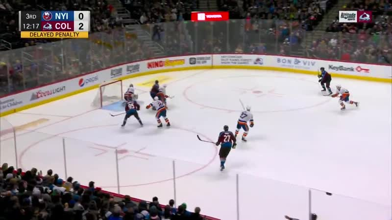 A beautiful deflection from the Captains favorite spot GoAvsGo