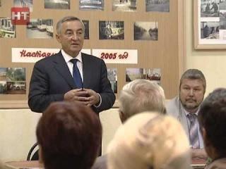 В новгородском троллейбусном парке прошла встреча мэра и сотрудников предприятия