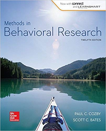 Methods in Behavioral Research - Paul Cozby