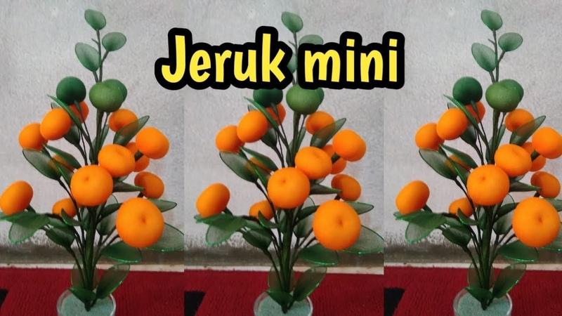 DIY how to make mini oranges from stocking TUTORIAL JERUK MINI DARI STOCKING 4