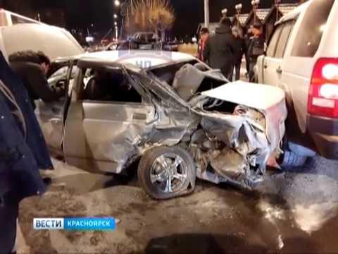 В Красноярске произошло серьезное ДТП