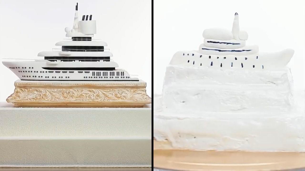 Торт яхта из шоу Кондитер