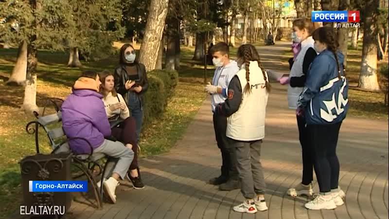 Активисты Молодой Гвардии Единой России рассказали о важности защитных масок