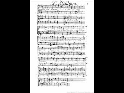 Jean Baptiste Lully Ballet Royal d'Alcidiane Ritournelle et récit italien