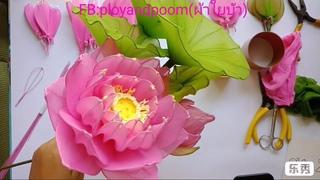Мастер-класс по цветам из капрона: Цветок Лотоса