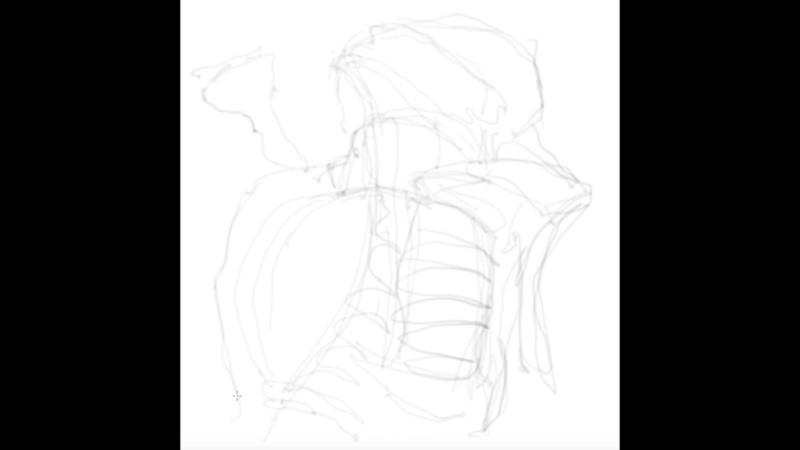 Кости и плоть анатомия speedpainting
