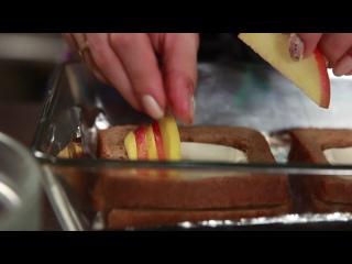 Французские тосты с яблоком, мёдом и корицей. Кулинары
