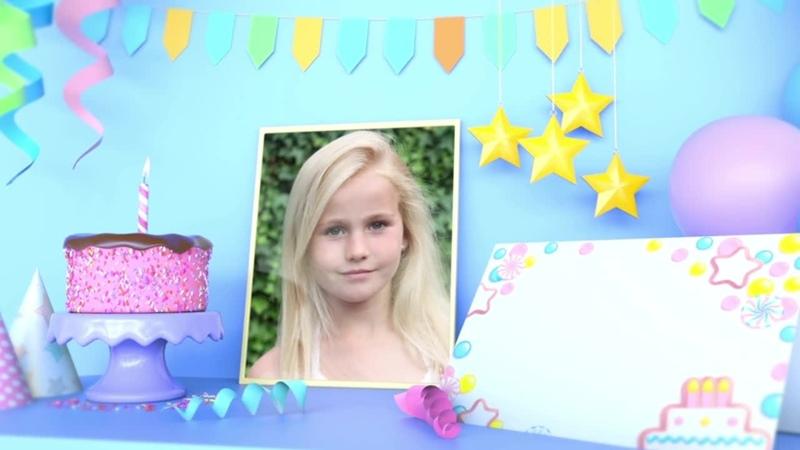 Пример поздравления для дочки (новинка) №101(полароид).1,50 минуты, 19 фото(2 вертикальных, 2 горизонтальных, 15 квадратных).