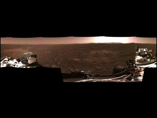 Панорама Марса с марсохода Perseverance