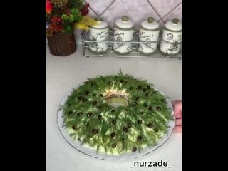 Этот салат будет самым красивым украшением вашего праздничного стола!