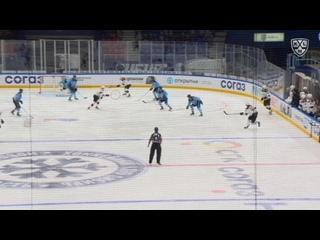 Первый гол в матче Сибирь - Динамо-Рига