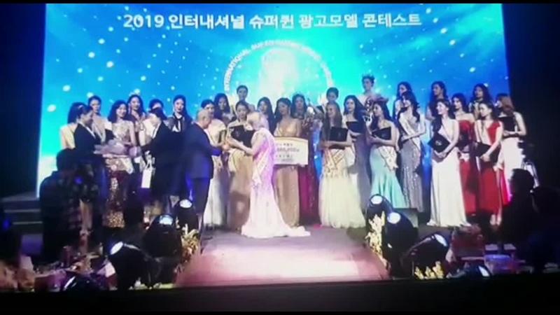Награждение нашей модели Мадины на конкурсе miss Korea international