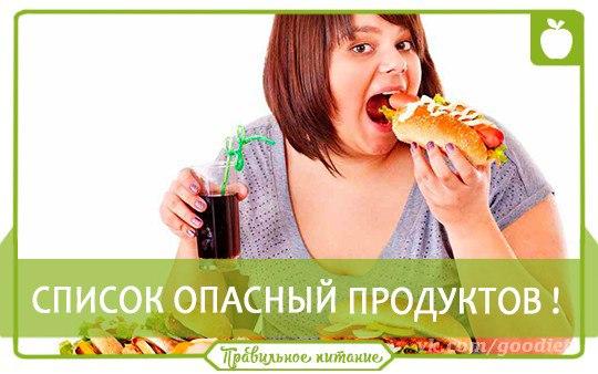 ✏ Список самых опасных для здоровья продуктов.  ➕ 1....