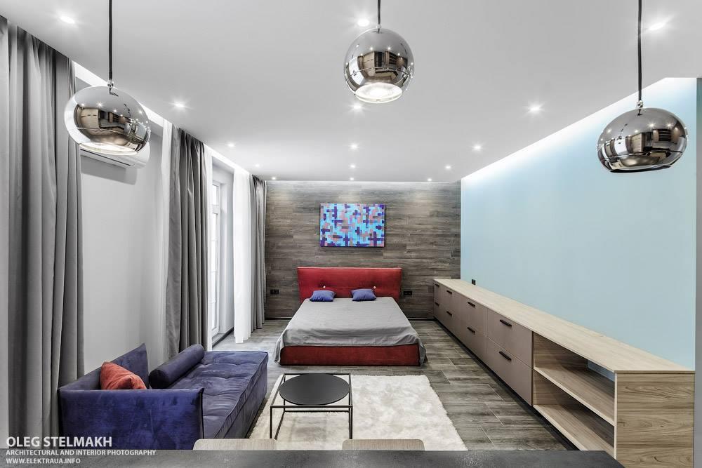 Интерьер квартиры-студии почти 48 м в Киеве.