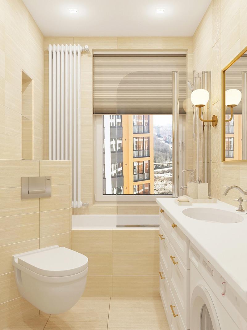 Проект квартиры-студии 26,6 м (с лоджией – 28,7 м).