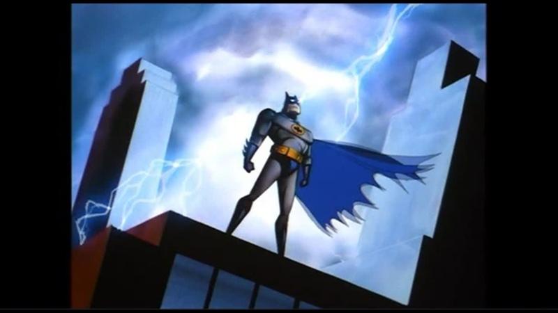Мультфильм Batman The Animated Series Бэтмен Новые приключения Бэтмена Бэтмен Рыцари Готэма 1992 1995 Бэтмен Заставка 1992