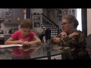 Полина и наша замечательная учительница Вера Петровна