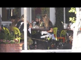 Kaulitz Twins, Heidi Klum and her Daughter at Fred Segal Restaurant -