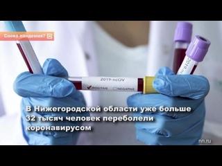 В Нижегородской области уже больше 32 тысяч человек переболели коронавирусом