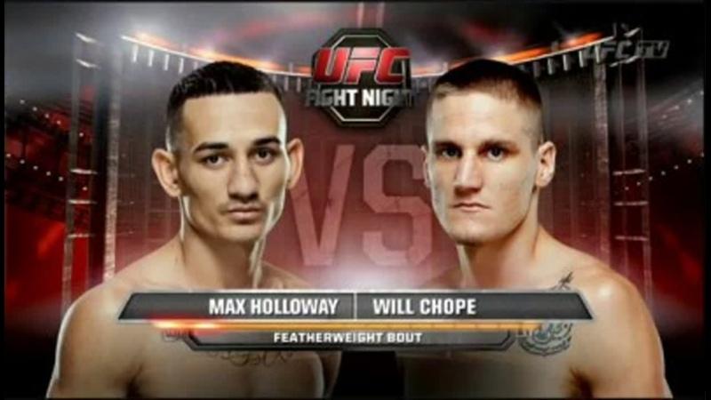 Холлоуэй уничтожает UFC FN 34 - Max Holloway vs Will Chope