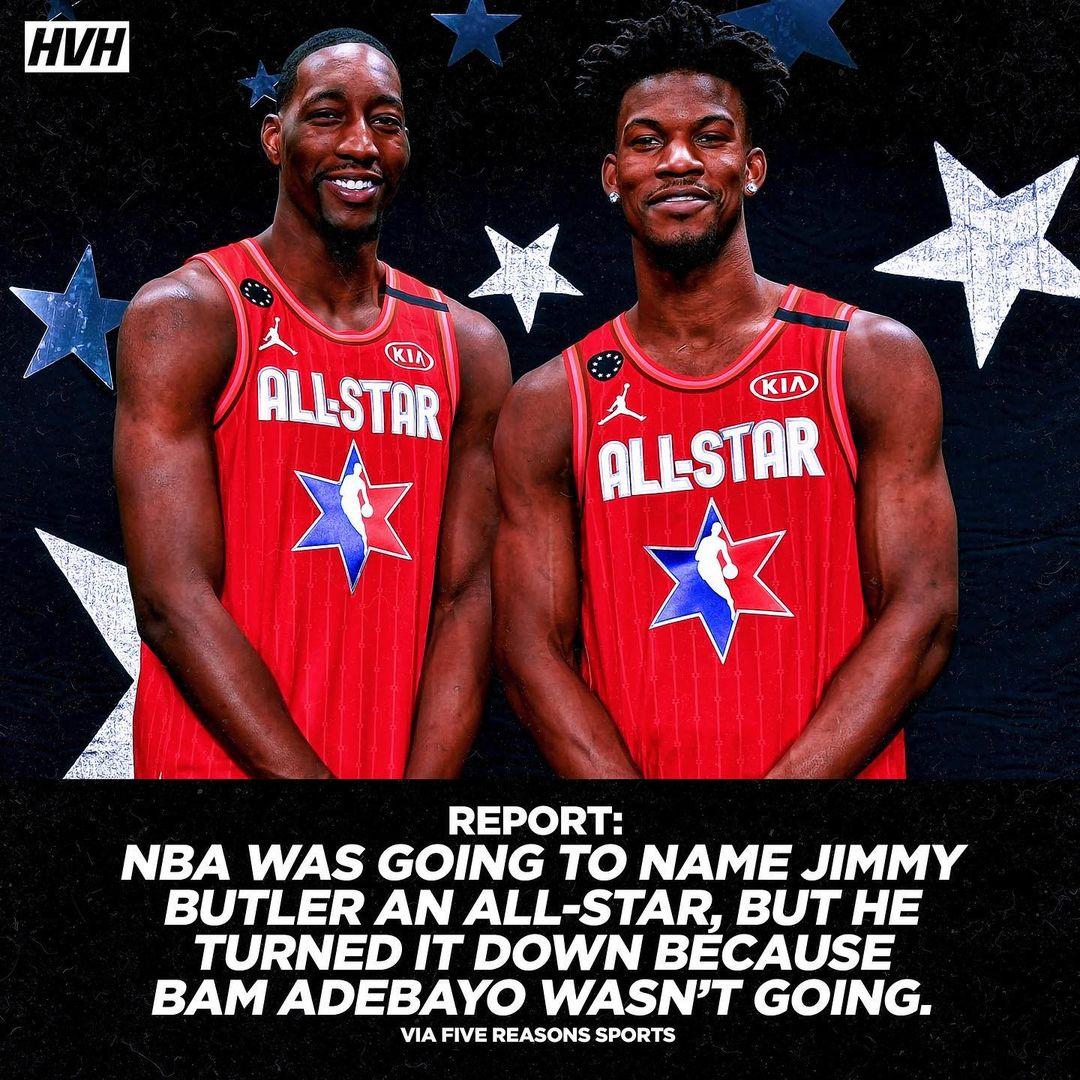 Джимми Батлер отказался от участия в Матче звёзд НБА из-за того, что там не будет Бэма Адебайо