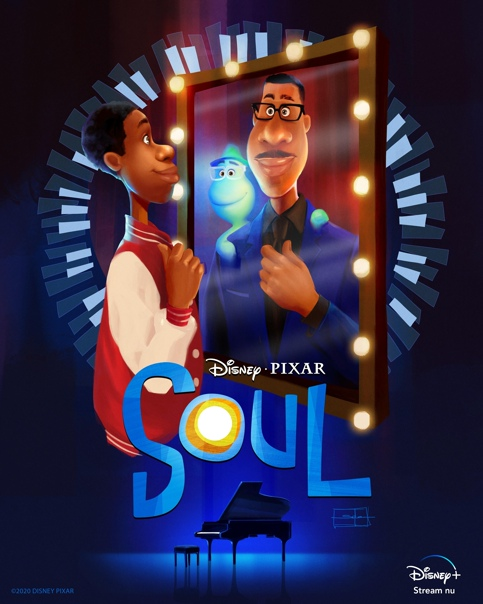 Арт-постер «Души» Pixar от художницы Salena Barnes В кино с 21 января.