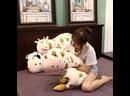 1 шт., 50 110 см, большая плюшевая игрушка для крупного рогатого скота, мягкая подушка для мальчика, для спальни, дивана,