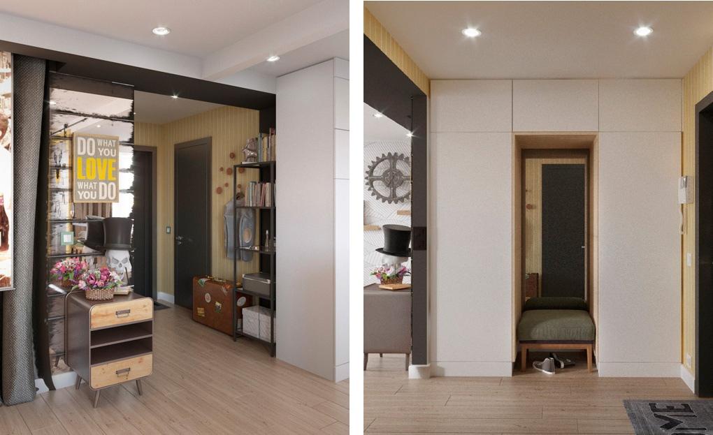 Проект квартиры-студии 29 м.