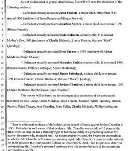 Выдержка из ходатайства обвинения № 1108 от 10 декабря 2004 года.