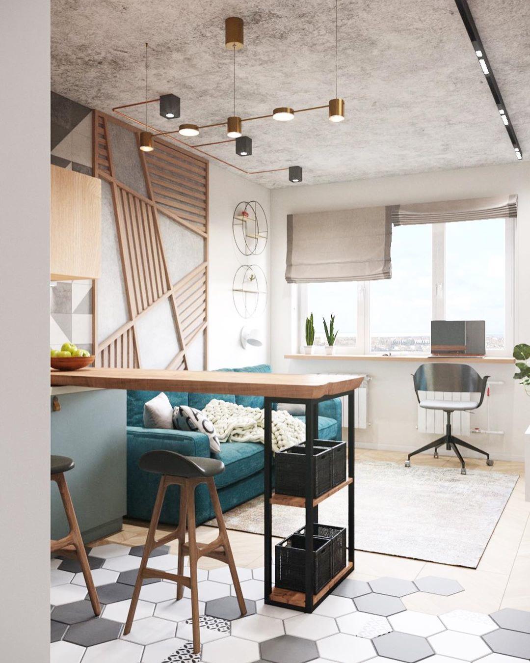 Дизайн-проект квартиры-студии 27 кв.