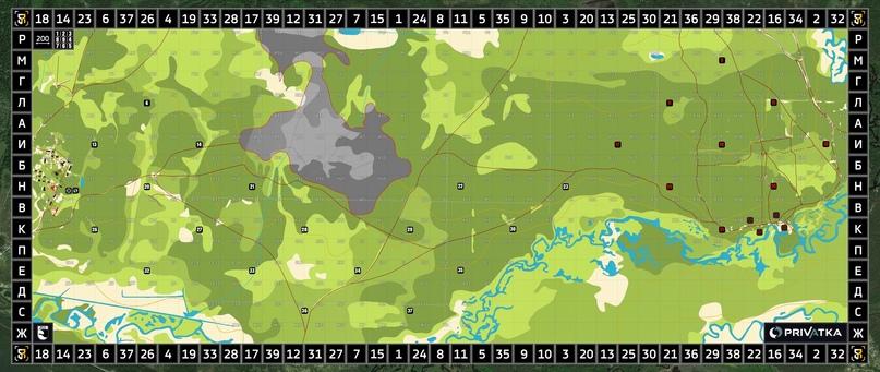 Карта, которая выдавалась командиру группы перед выходом на маршрут. Свой путь каждая группа определяла уже по ходу движения.
