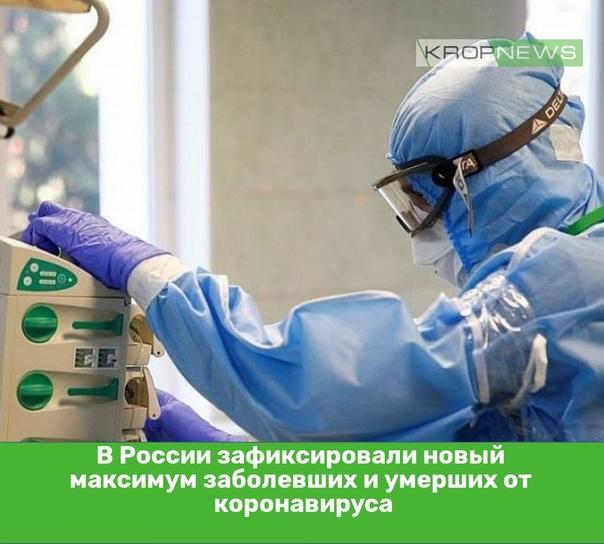 В России зафиксировали новый максимум заболевших и...