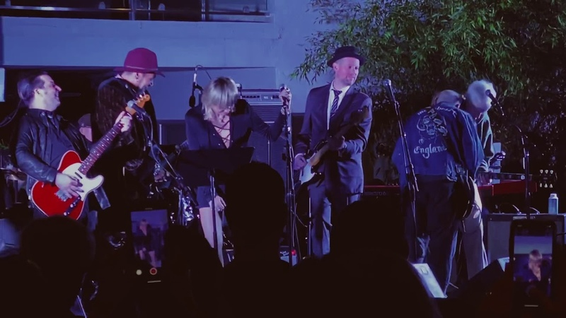 Miley Cyrus performs Roadhouse Blues with Robby Krieger from The Doors at Sunset Marquis