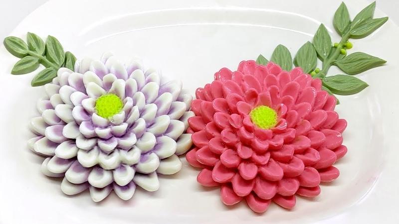 วิธีทำวุ้นดอกเบญจมาศยักษ์ วุ้นดอกไม 3657